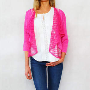 SophieB Fushia Pink Open Light Knit