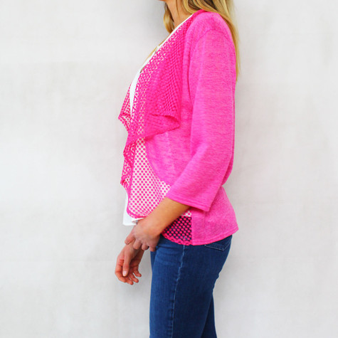 SophieB Fushia Pink Open Light Knit