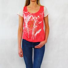 SophieB Coral Paint Pattern Print Top