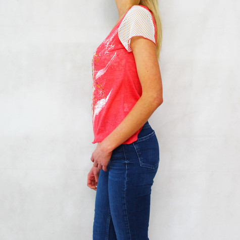 SophieB Coral Paint Pattern Print Top