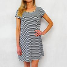 Ronni Nicole Stripe Pique Dress