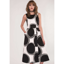Closet GOLD Black & White Sleeveless Wrap Dress
