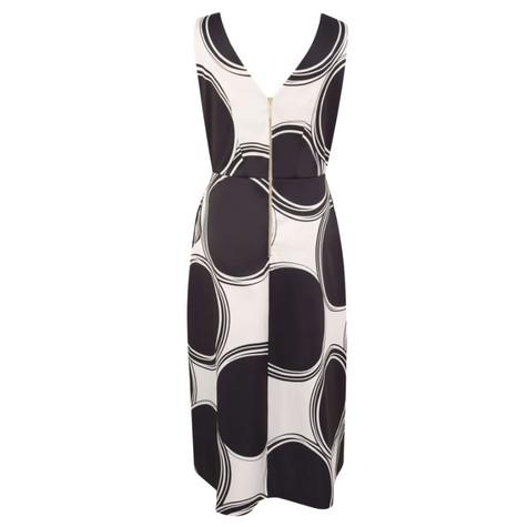 Closet GOLD Black & White Sleeveless Wrap Dress