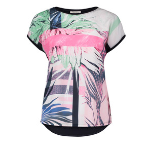 Betty Barclay Green & Pink Water Colour Print Top