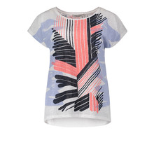 Betty Barclay Coral & Black Strip Print Top