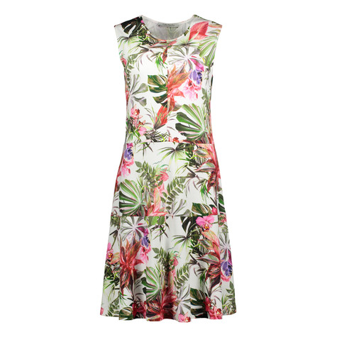 Betty Barclay Off White Long Floral Print Dress