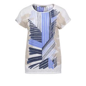 Betty Barclay Cyan & Navy Strip Pattern Top