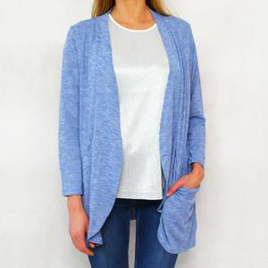 Twist Light Blue Drape Open Knit
