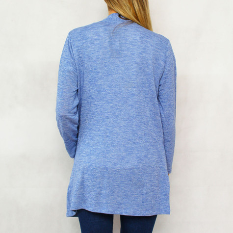 Twist Light Blue Drape Open Knit