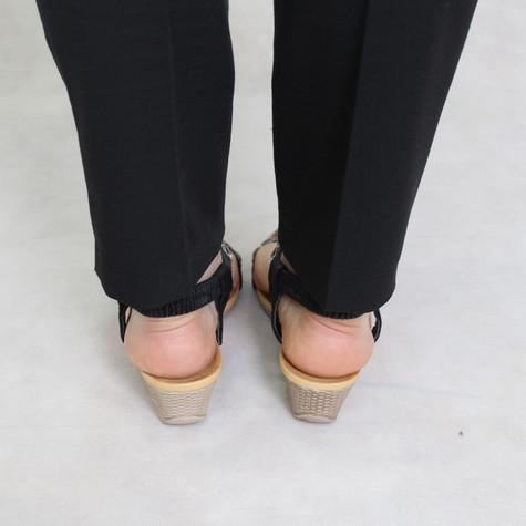 Libra Pop Black Diamante Detail Wedge Sandal