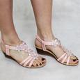 Libra Pop Pink Floral Detail Sandals