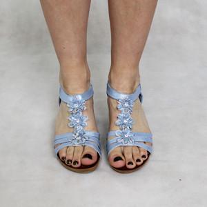 super mode Bella Blue Floral Detail Sandal