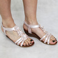 super mode Bella White Floral Sandal