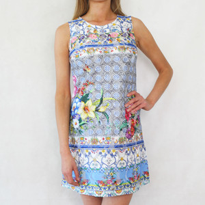 101 Ideas The Light Blue Multi Print Dress