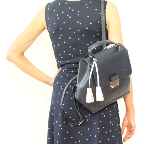 Mimosa Laser Cut Black Accessory Bag