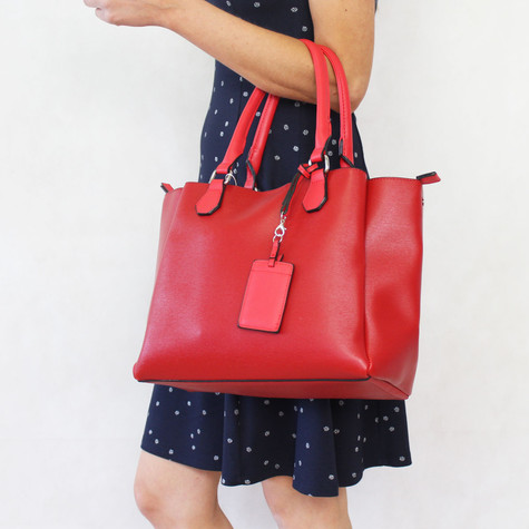Mimosa Rouge Two Tone Handbag