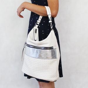 Mimosa Ecru Shimmer Panel Handbag