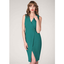 Closet Green Wrap Pencil Dress