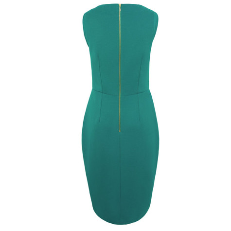 Closet Green Wrap Pencil Dress