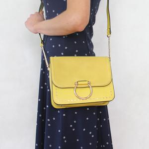 Mimosa Jaune Gold Chain Handbag