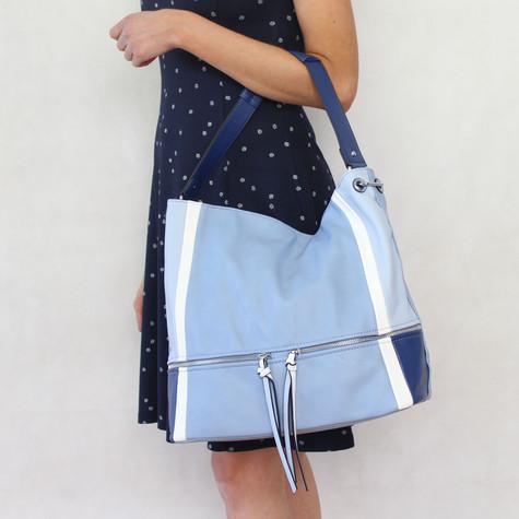 Mimosa Blue Three Tone Handbag