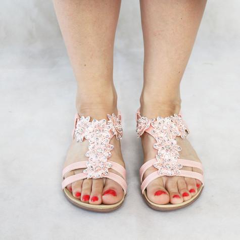 Libra Pop Pink Floral Strap Sandal