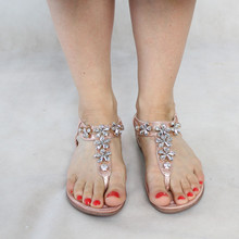 Libra Pop Silver Floral Jewel Detail Sandal
