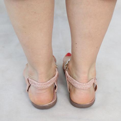 Libra Pop Silver Floral Jewel Detail Sandal