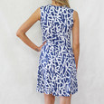 Zapara Denim Blue Graffiti Design Dress