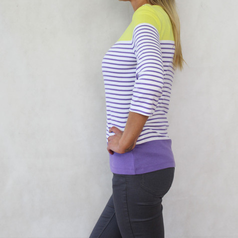 Twist Yellow & Violet Stripe Top