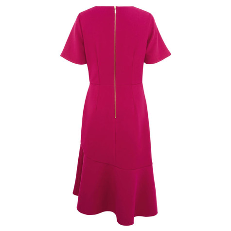 Closet Magenta Asymmetric Frill Dress
