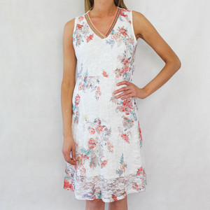 SophieB Flower Lace Print Dress