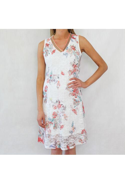 Sophie B Flower Lace Print Dress