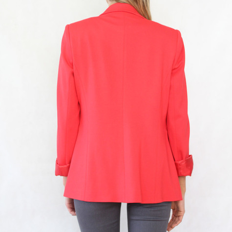 Zapara One Button Red Blazer Jacket