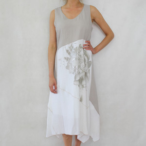 SophieB Natural Linen Feel Long Dress