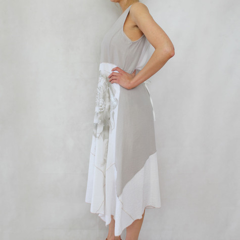 SophieB Natural Linen Feel Long Dress