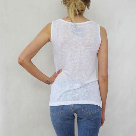 SophieB White Linen Feel Vest