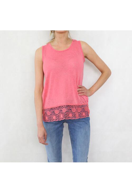 Sophie B Coral Linen Feel Vest Top