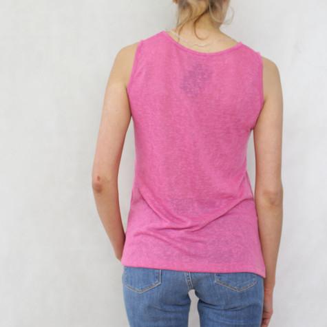 SophieB Fushia Linen Feel Vest Top
