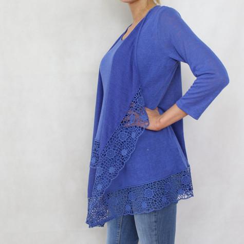 SophieB Royal Blue Long Linen Feel Knit