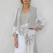 SophieB Natural Linen Feel Crop Jacket