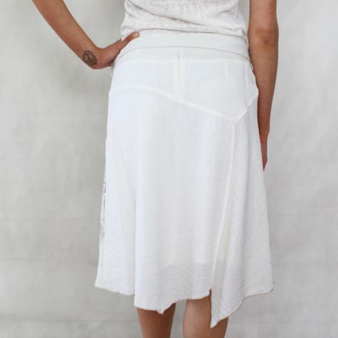 SophieB Beige Natural Stripe Skirt