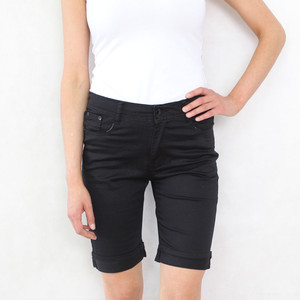 Vidy Black Denim Jean Shorts