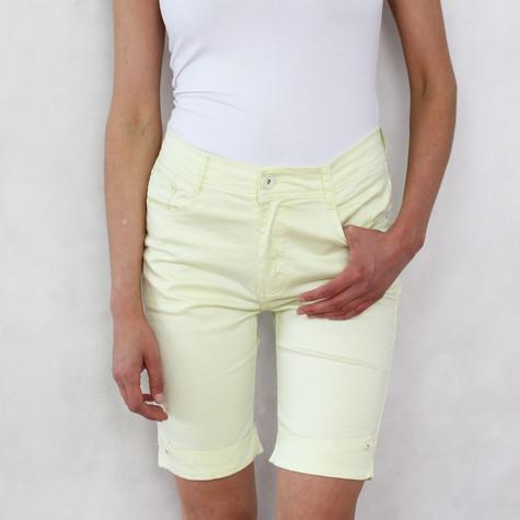 Vidy Lime Jean Shorts
