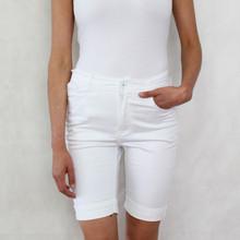 Vidy White Jean Shorts