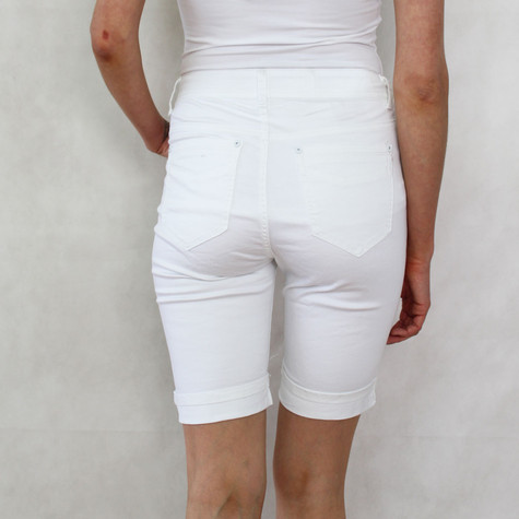 Vidy White Jean Shorts