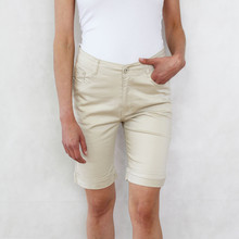 Vidy Beige Jeans Shorts