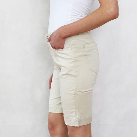 Vidy Beige Jeans Shorts