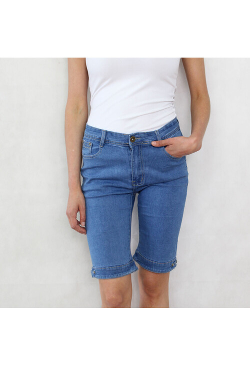 Pamela Scott Light Denim Jean Shorts