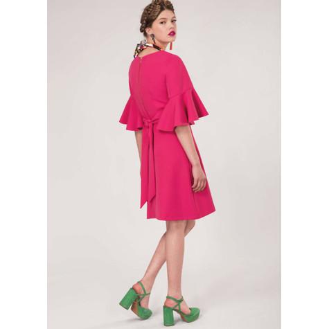 Closet Pink Tie Back Ruffle Dress